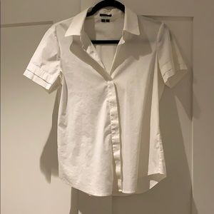 Theory White Button Down / Size M
